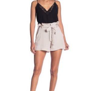 Socialite High Rise Paperbag Waist Shorts Large